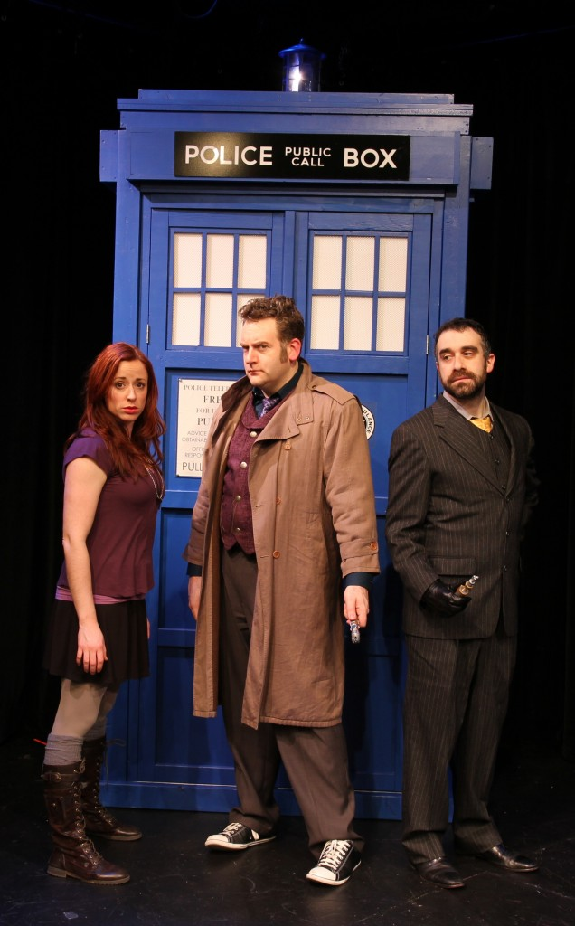 "L to R: Elizabeth Brammer (as ""Emma""), Tony Beeman (as ""The Doctor"") and Dan Posluns."